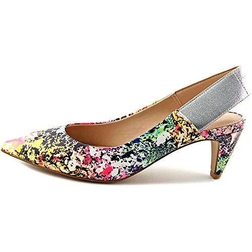 French Connection Kourtney Femmes Toile Talons Multi Color-Silv