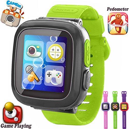 Kids juego inteligente relojes [Ar Pro Edition] para niños niñas con podómetro temporizador cámara reloj de pulsera Fitness Tracker reloj deportivo de alarma interior al aire libre niños juguete de aprendizaje regalos, pantalla de 1.50 inches, color Gray*Green