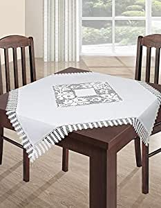 150x220 cm weiße Tischdecke Tischtuch Spitze Modern Folk pflegeleicht praktisch elegant Material Nature 2