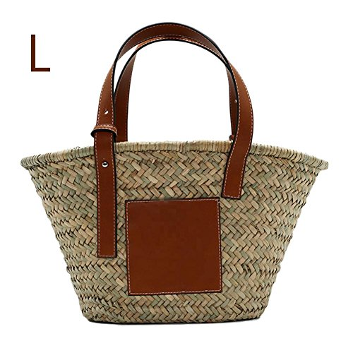 (Frauen Top Griff Tasche Stroh Woven Handtasche Handgemachte Einkaufstasche Korb für Shopping Outdoor Strand Reise)