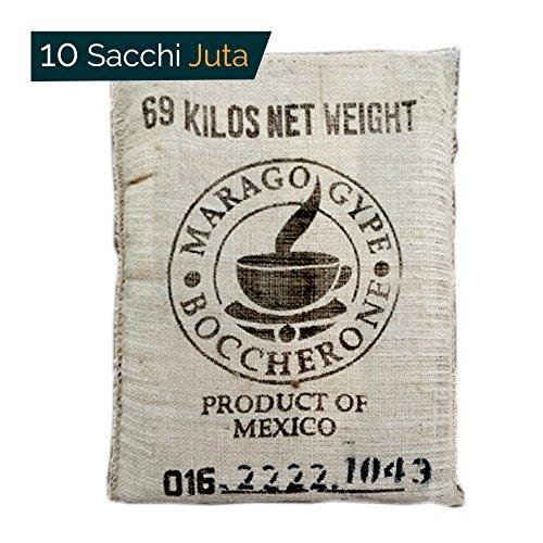 10 Sacchi Juta - iuta 70 cm x 100 cm. Per decorazioni, orto, giardino, cucina, feste.