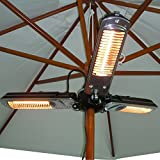 51gN4maSn5L. SL160  - BEST BUY #1 Outsunny Electric Umbrella Parasol Mounted Infrared Heater 1500W Patio Gazebo Outdoor Use Reviews and price compare uk