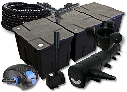 sunsun-filtro-set-90000l-stagno-con-72-w-chiarificatore-stagno-100-w-pompa-eco-25-m-tubo-skimmer-fon