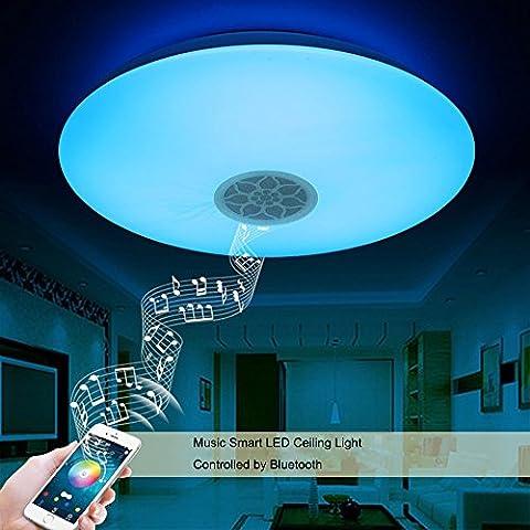Autai LED Deckenleuchte mit Bluetooth Lautsprecher Musik Sync Halterung dimmbar Deckenleuchte Lampe Fassung für Wohnzimmer Schlafzimmer Esszimmer