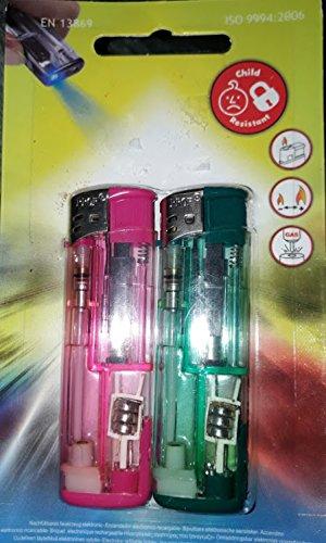 feuerzeug mit licht 2er Packung Feuerzeuge mit Licht