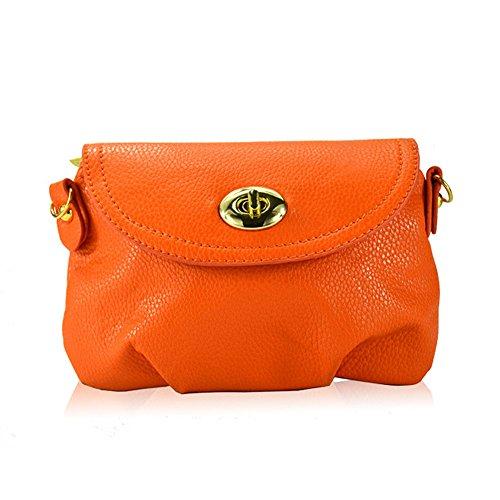 Hrph Neue Art und Weise der Frauen nette Mappen Umhängetasche Retro Kleine Taschen Solide PU-Leder Tasche #16
