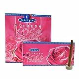 Bastoncini Dhoop Satya Fresh Rose 120 bastoncini 12 scatole con portaincenso accessori per la casa Profumazione