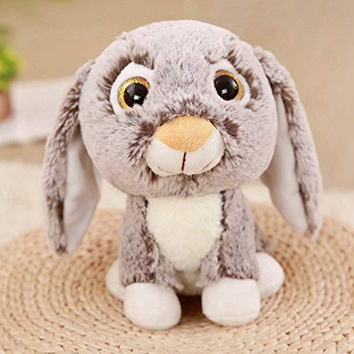 baiyinlongshop Big Eyes Husky Hund / Kalb / Murmeltier / Kaninchen / Antilope Plüschtier Puppe Kuscheltier Süße Plüschpuppe Kindergeburtstag Spielzeug 23Cm C -