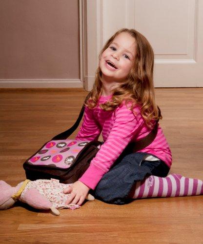 Lässig Mini Messenger Bag Kindergartentasche, Starlight oliv Savannah pink