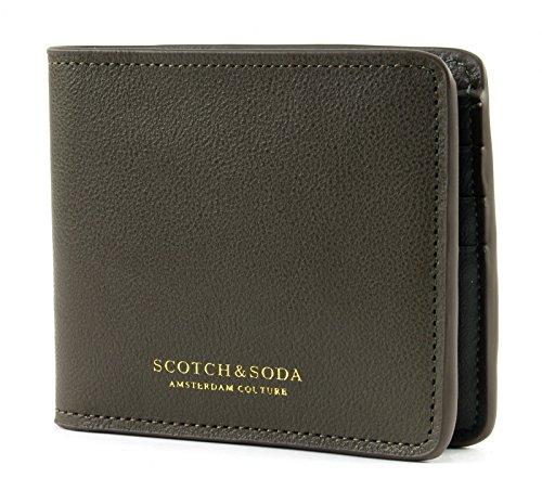 Preisvergleich Produktbild SCOTCH & SODA Classic Leather Billfold Wallet Army
