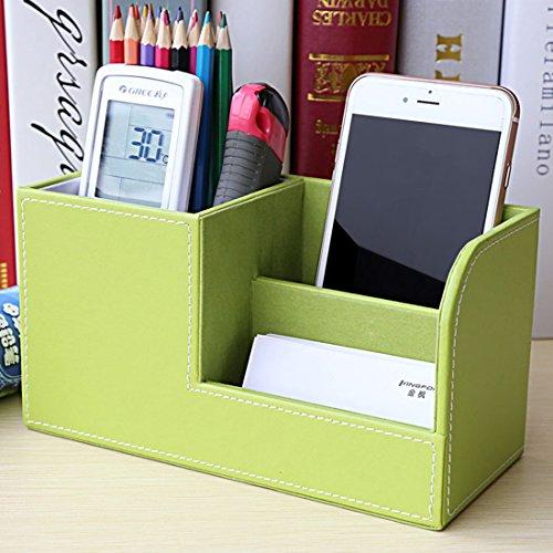 Organizer Schreibtisch Zubita Tisch Organizer / Multifunktionale Ablagesystem mit Bürobedarfset / Aufbewahrungsbox / Kosmetikbox Stifthalter / Kartenetui / Leder büro Speicherabteil ( Grün )