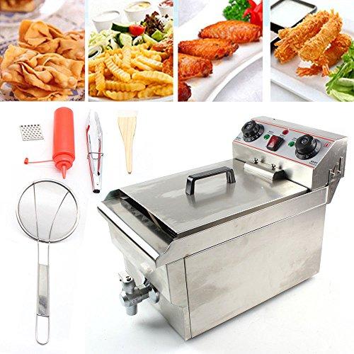 10L Friteuse, Fritteuse-elektro 3000W Edelstahl Friteuse Gastronomie Elektro Fritteuse Kaltzonen Friteuse Elektrischer Ofen