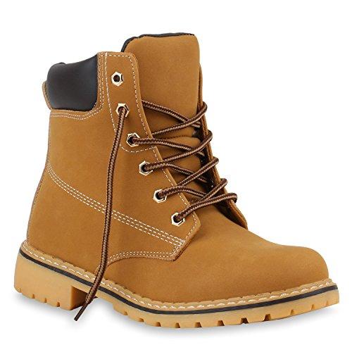 UNISEX Damen Herren Outdoor Worker Boots Camouflage Schuhe Braun Hellbraun