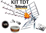 KIT ANTENA TELEVES HD 149902 +20MT CABLE+FUENTE TELEVES 5795...