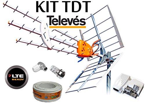 Foto de KIT ANTENA TELEVES HD 149902 +20MT CABLE+FUENTE TELEVES 5795 +CONECTORES DE ANTENA TIPO F Y CEI
