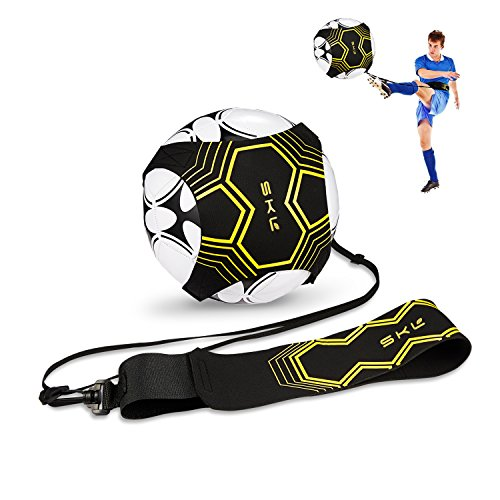 Fußball Trainer Soccer Trainer SKL Football Kick Trainer Solo Soccer Practice Training Aid Control Skills Adjustable Waist Belt