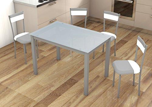 Mesas cocina cristal templado jueves lowcost - Mesa cocina cristal templado ...