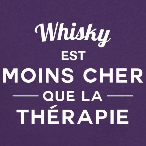 Whisky est moins cher que la thérapie - Femme T-Shirt - 14 couleur Violet