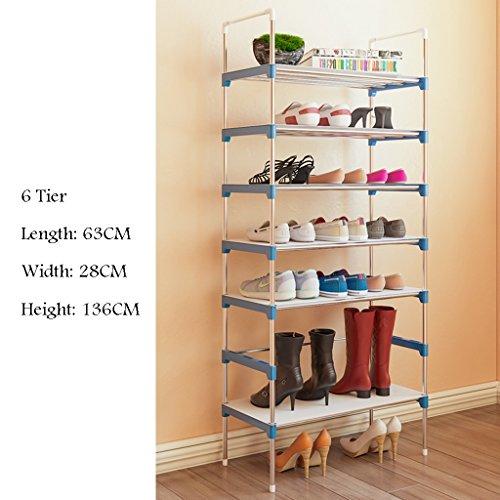 Stand pour Bottes Chaussures Forte Et Durable Réglable Plateau Organisateur Titulaire pour Entryway Hallway 7 Tier 63 * 28 * 153 Cm (Taille : 6 Tier)