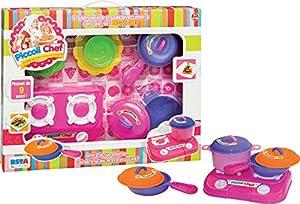 Ronchi Supertoys S.R.L. 9573 - Cocina y vajilla Infantil, Color Rosa