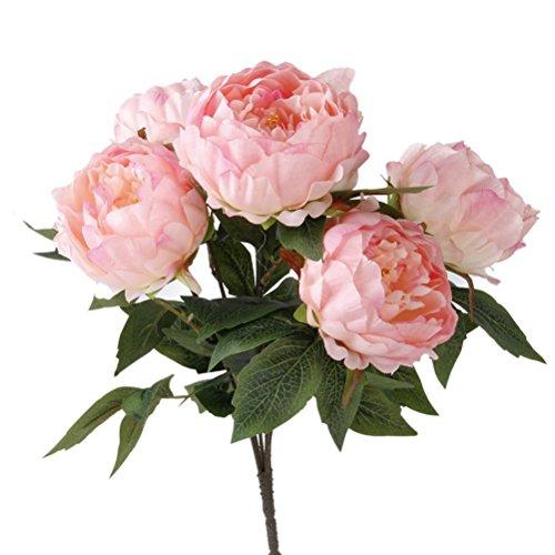 Winomo setadi peonia mazzo fiori artificiali (rosa)