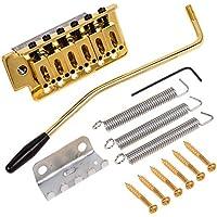 Kmise Oro Guitarra Eléctrica Tremolo Puente Individual sistema de bloqueo de repuesto de guitarra stratocaster