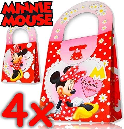 4 Geschenkboxen aus Pappe * MINNIE MOUSE * von Disney // CONO // Party Kinder Mottoparty Kindergeburtstag Mitgebsel Geschenktüten Tüten Partyboxen Minni Maus (Party-tüten Minnie Mouse)