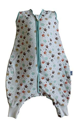 Schlummersack Baby Sommerschlafsack mit Füssen 1 Tog - Eulen - 12-18 Monate/80 cm