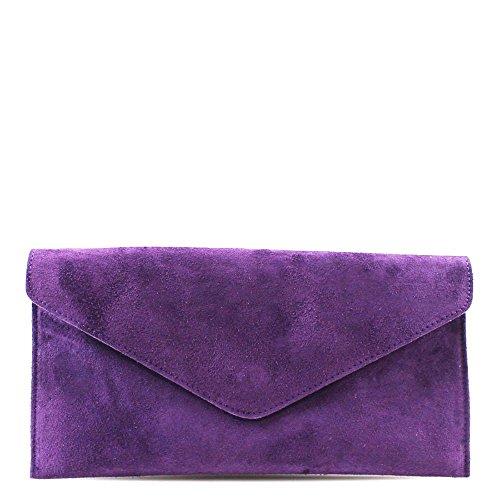 Hautefordiva , Damen Clutch blau L violett