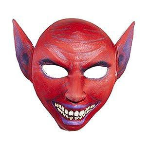 WIDMANN vd-wdm05706Máscara de Tela medio Viso Diablo, rojo, talla única