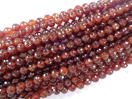 Granat Runde Perlen Strang, 8 Zoll langen Strang, facettierte Perlen Großhandel ()