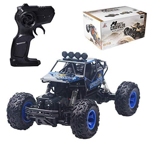 RC Car Monster Truck 1:16 - Große Größe Fernbedienung Auto Off Road 4x4-2,4 GHz wiederaufladbar, Racing Climber Spielzeug für Kinder Jungen Erwachsene, blau