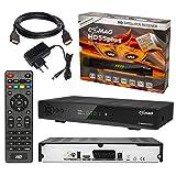 Satelliten SAT Receiver DVB-S DVB-S2 SET: Comag HD 55 plus DVB-S/S2 Receiver mit Augnahmefunktion PVR shift + HDMI Kabel mit Ethernet Funktion und vergoldeten Anschlüssen (Full HD Ready, HDTV, HDMI, SCART, USB 2.0, SPDIF Koaxial Ausgang, 230/12V)