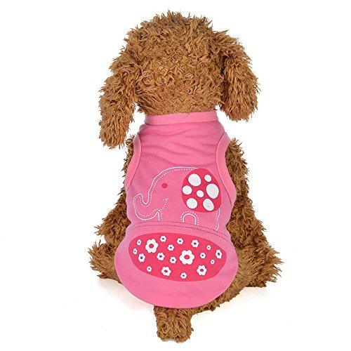 Hawkimin Haustier Weste, Frühling und Sommer Baumwolle Niedliches Elefant Cartoon Kleidungs Welpen Hunde Kostüm für Kleine Haustiere