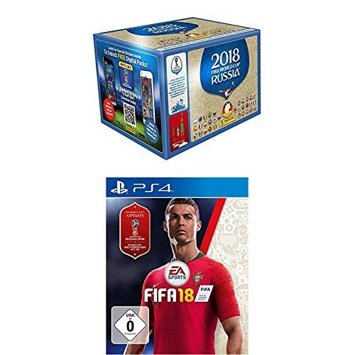 Panini WM Russia 2018 - Sticker - 1 Display (100 Tüten) deutsche Ausgabe + FIFA 18 - Standard Edition - [PlayStation 4]