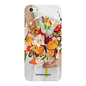 HomeSoGood Butterfly Collection Multicolor 3D Mobile Case for iPhone 5 / 5S (Back Cover)