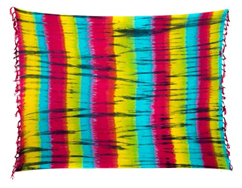 Ca 88 Original Ciffre Pareo Sarong Sarongs zur Auswahl Fair Trade Strandtuch Wickelrock Strandtuch Schals Halstuch Blickdicht Design by El-Vertrieb Batik 14