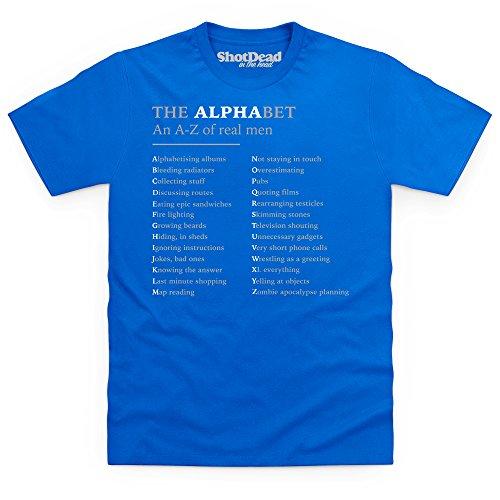 The Alphabet T-Shirt, Herren Royalblau