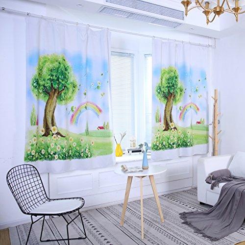 Huhuswwbin tende, tenda di puro alta ombreggiatura fairy world tree arcobaleno tenda cameretta nursery decor-80cm x 200cm, poliestere, 100cm x 130cm