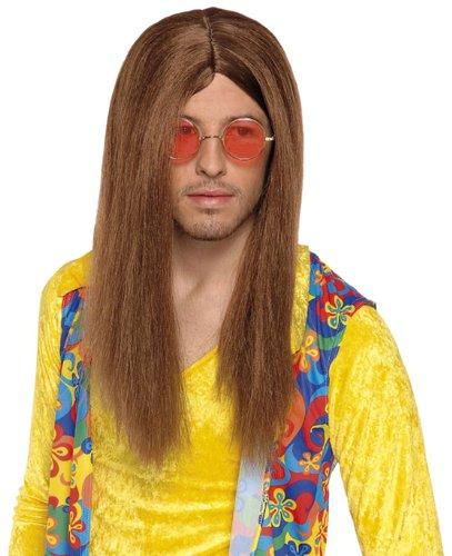 Boland 86369 - Perücke Hippie John, glatte Haare, braun