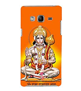 FUSON Hindu Lod Hanuman Ramjap 3D Hard Polycarbonate Designer Back Case Cover for Samsung Galaxy Z3 Tizen :: Samsung Z3 Corporate Edition
