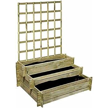 dobar hochbeet drei etagen peru aus holz mit spalier. Black Bedroom Furniture Sets. Home Design Ideas