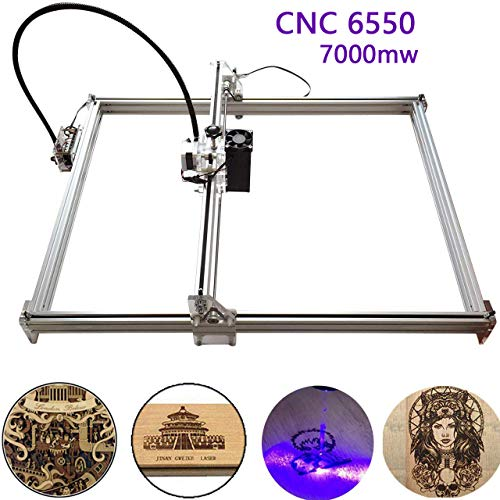 Mcwdoit 7000mw Carving Machine DIY Kit, Desktop USB Laser Engraver Carver, Engraving Area 650mm * 500mm Accuracy Adjustable Laser Power Printer Carving & Cutting with Protective Glasses