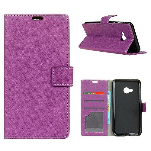 """MOONCASE HTC U Play Flip Case, Card Slot Holster Brieftasche Dauerhaft TPU Stoßfest Ständer Schutzhülle Handy Cover für HTC U Play 5.2"""" Lila"""