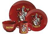 Harry Potter 1012350110Set da tavola, 4pezzi, Acciaio Inossidabile, Bianco, 9x 4x 4cm
