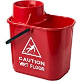 Image of 2Work SM15RD Plastic Mop Bucket with Wringer, 15 L -... - Comparsion Tool