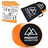 The Product Adventure Core Glide Sliding Exercise Discs are designed to give you a full core workout. The disc are made of high quality ABS plastic with a softs cloth covered foam on the other side. The hard plastic side is used face down on carpeted...
