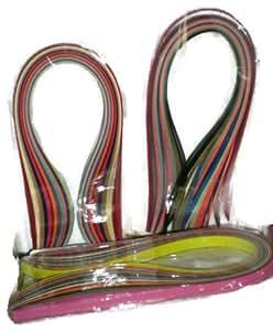 Naarilok 400 Multicolor Quilling Paper Strips and Quilling Needle