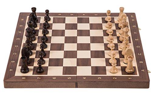 Pro-Schach-Nr-5-NUSS-Schachspiel-aus-Holz-Schachbrett-Staunton-5