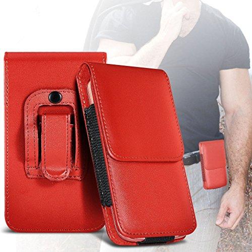 Fone-Case (Red) Allview V2 Viper Xe Hülle der nagelneuen Luxus Faux PU Vertikal Seiten Leder Pull Tab-Beutel-Haut-Kasten-Abdeckung